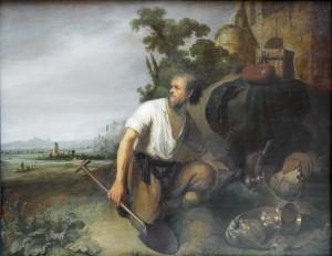 Das Gleichnis vom Schatz im Acker von Rembrandt (etwa 1630)