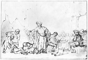 Rembrandt Harmensz. van Rijn: Gleichnis von der königlichen Hochzeit