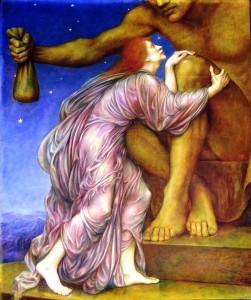 Anbetung des Mammon (Gemälde von Evelyn De Morgan)