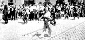 Spanische Revolution Rekruten in Barcelona