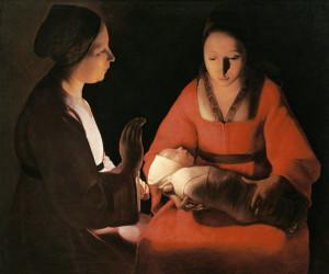 Georges de La Tour, Das Neugeborene, 1642, Rennes