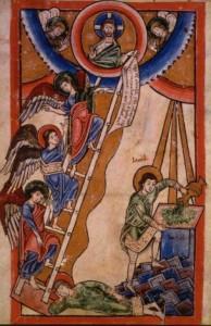 Jakobs Traum (Mosaner Psalterfragment; 12. Jh.)