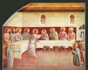 Beato Angelico, Abendmahl (Kommunion der Apostel), Fresco, 1440/41, Florenz