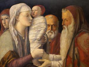 Giovanni Bellini, Darstellung Jesu im Tempel (Ausschnitt), um 1460, Venedig