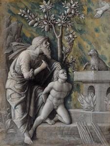 Andrea Mantegna (1430/31 - 1506): Opferung Isaaks, um 1490/1495, Wien