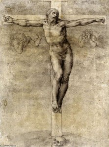 Michelangelo Buonarroti, Christus am Kreuz, um 1541, London