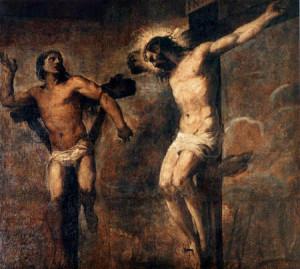 Tiziano Vecellio, Christus und der gute Schächer, 1563, Bologna