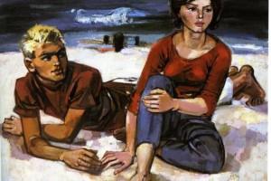 """Am Strand"""" von Walter Womacka, 1962"""