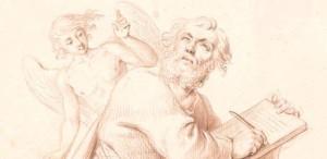 Daniel Nikolaus Chodowiecki, Der Evangelist Matthäus (Entwurf für eine Skulptur der Bauplastik des Französischen Doms)