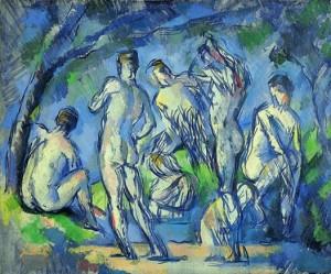 Paul Cézanne, Sieben Badende, um 1900