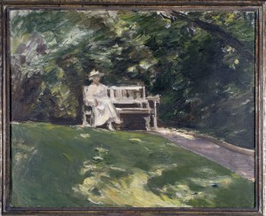 Max Liebermann: Die Gartenbank, 1917