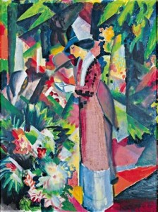 August Macke Spaziergang in Blumen, 1912.