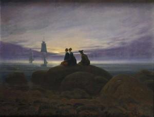 Caspar David Friedrich, Mondaufgang am Meer, 1822