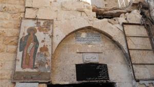 Eine zerstörte Kirche in der Nähe von Damaskus